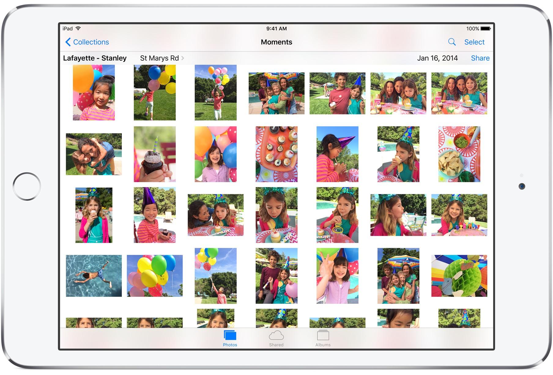 iOS 9 Photos iPad screenshot 001