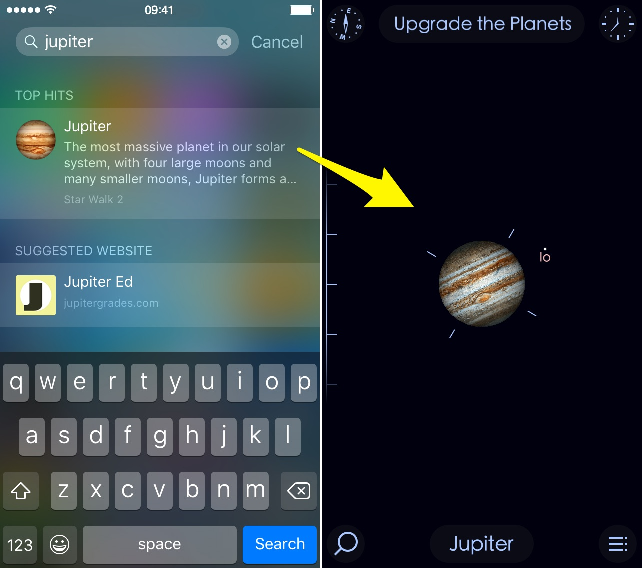 iOS 9 Safari App Universal Search