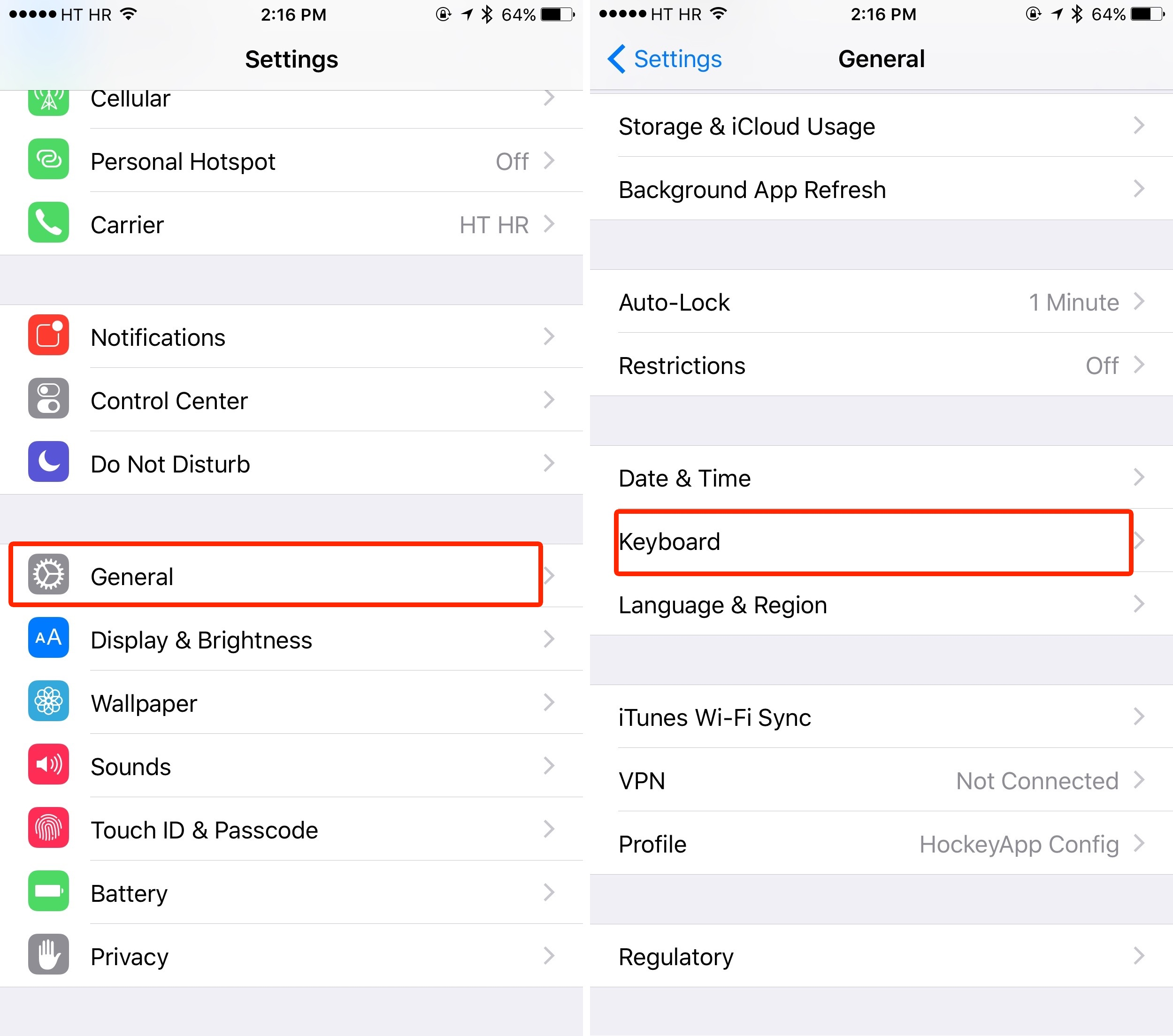iOS 9 Settings Keyboard Character Preview iPhone screenshot 001