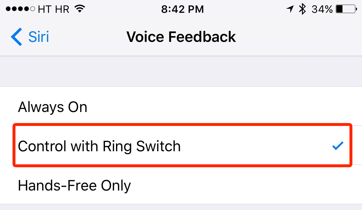 iOS 9 Settings Siri Voice Feedback iPhone screenshot 002