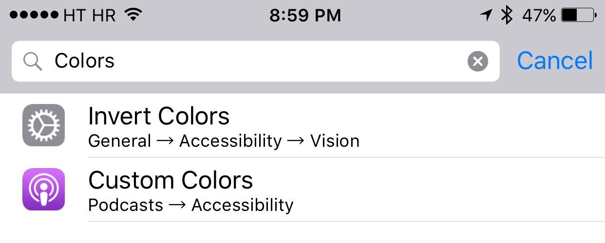 iOS 9 Settings search iPhone screenshot 003
