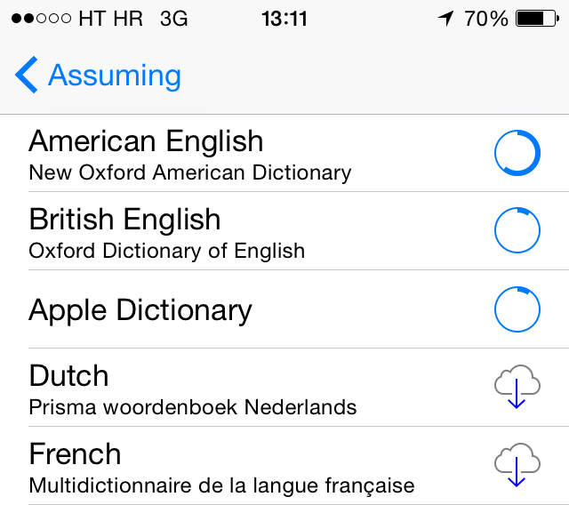 iOS (Define words, howto 005)