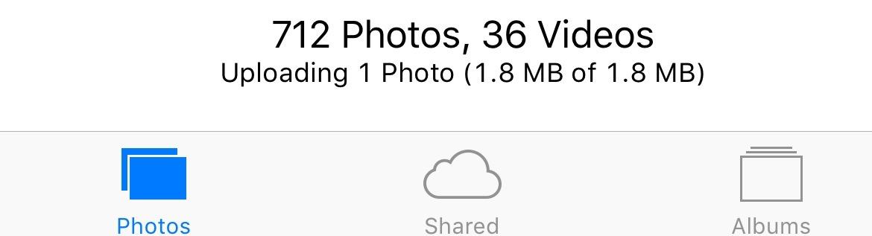 iOs 9 Photos app progress indicator iPhone screenshot 001