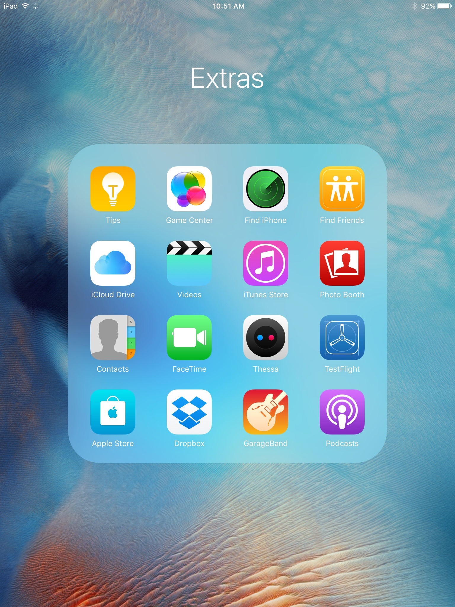 iPad 16 apps folders iOS 9