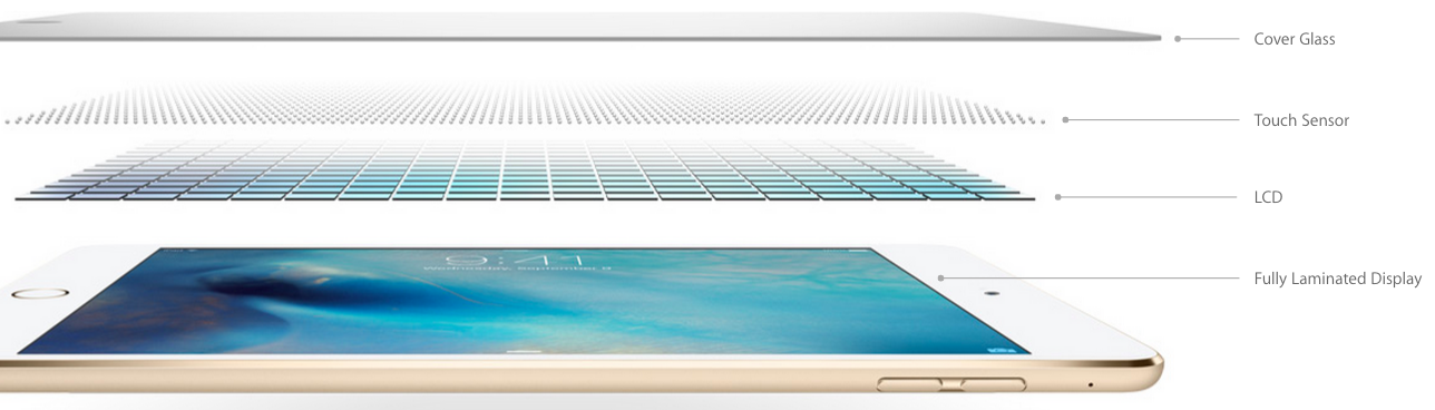 iPad mini 4 fully laminated display image 001