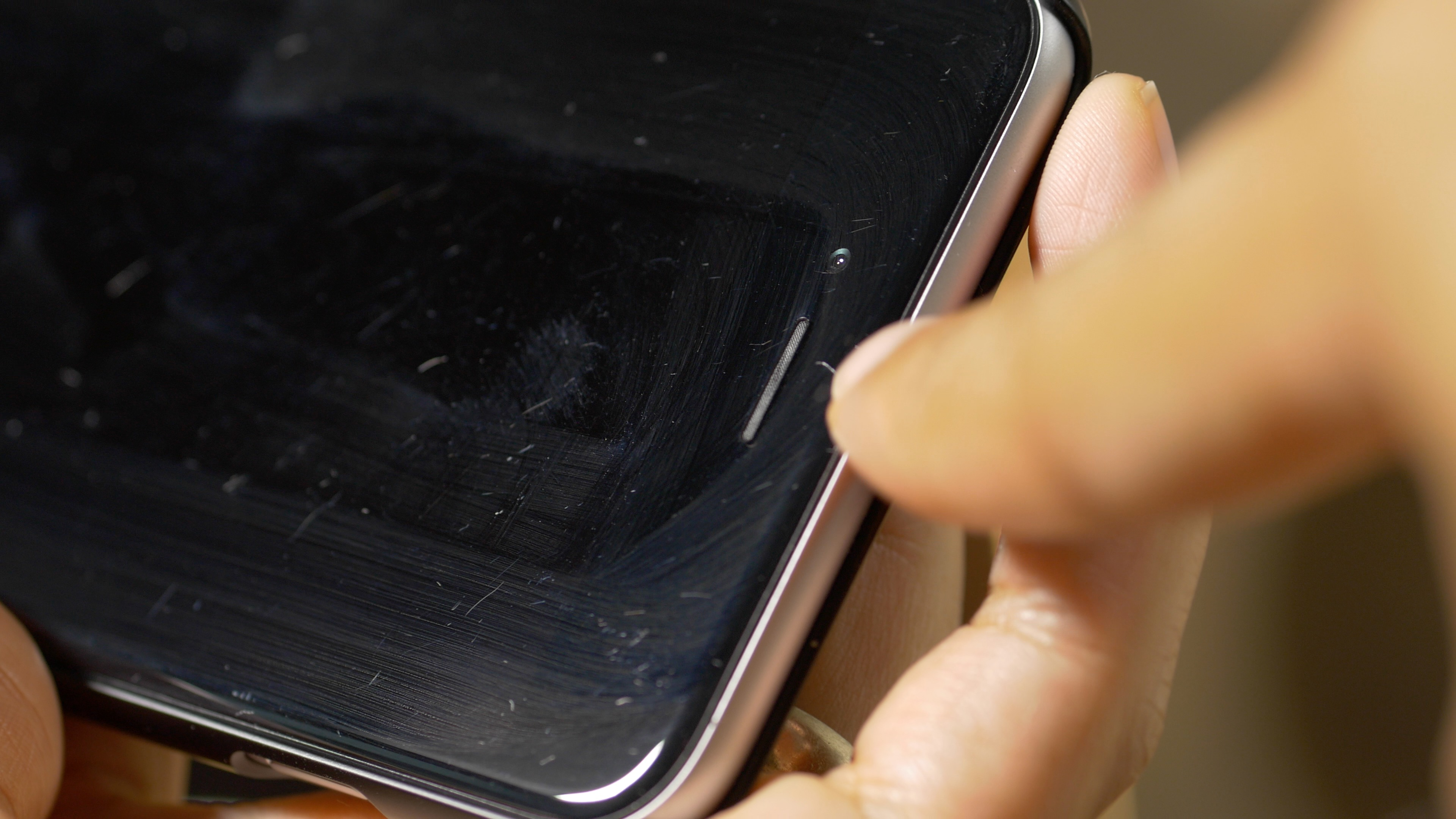 iPhone 6 Plus hairline scratches