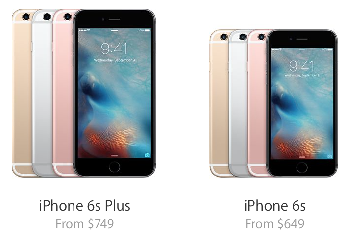 iphone 6s pricing iphone 6s and iphone 6s plus price and availability 11495