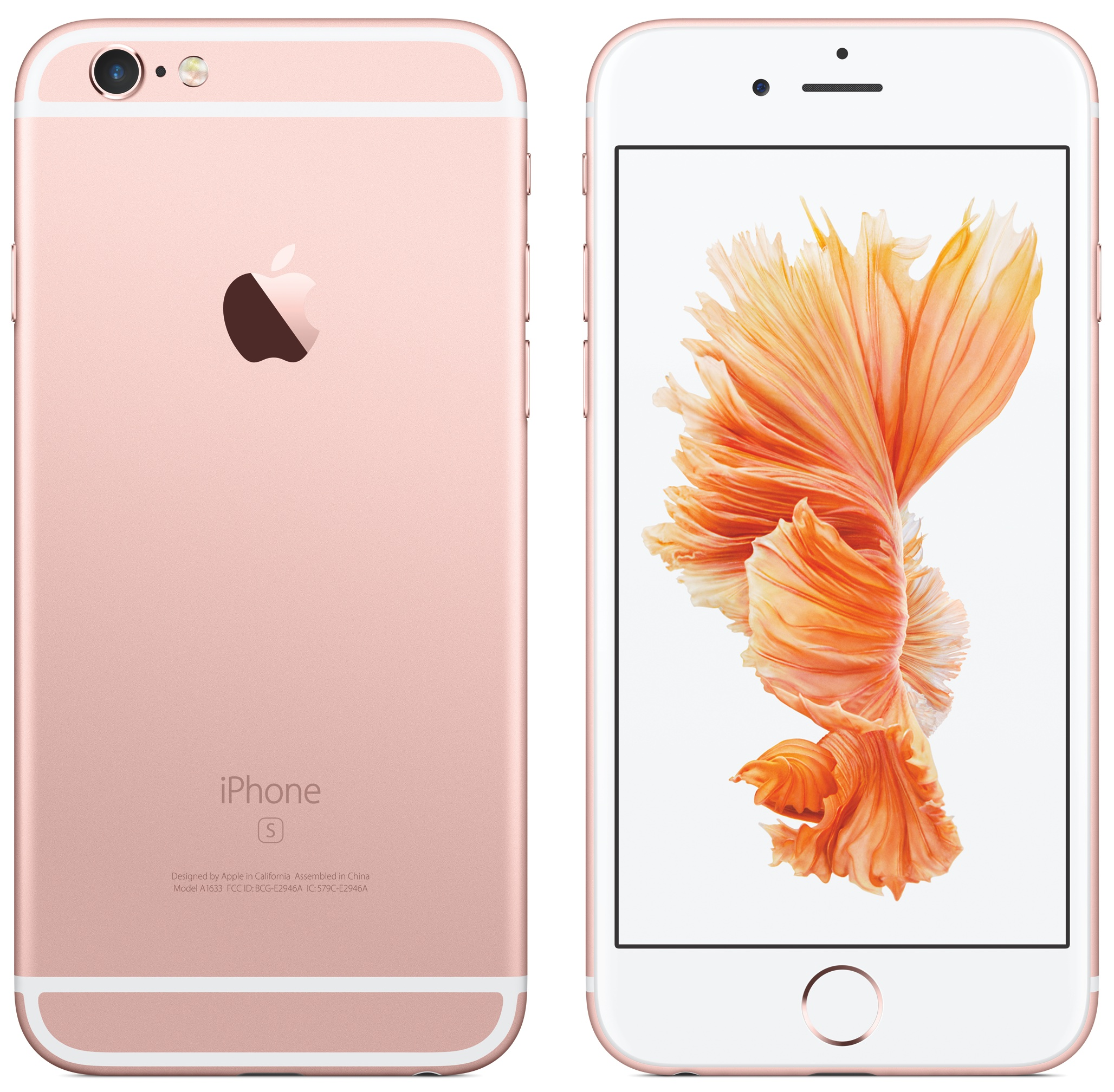 iPhone 6s Rose Gold front back image 006