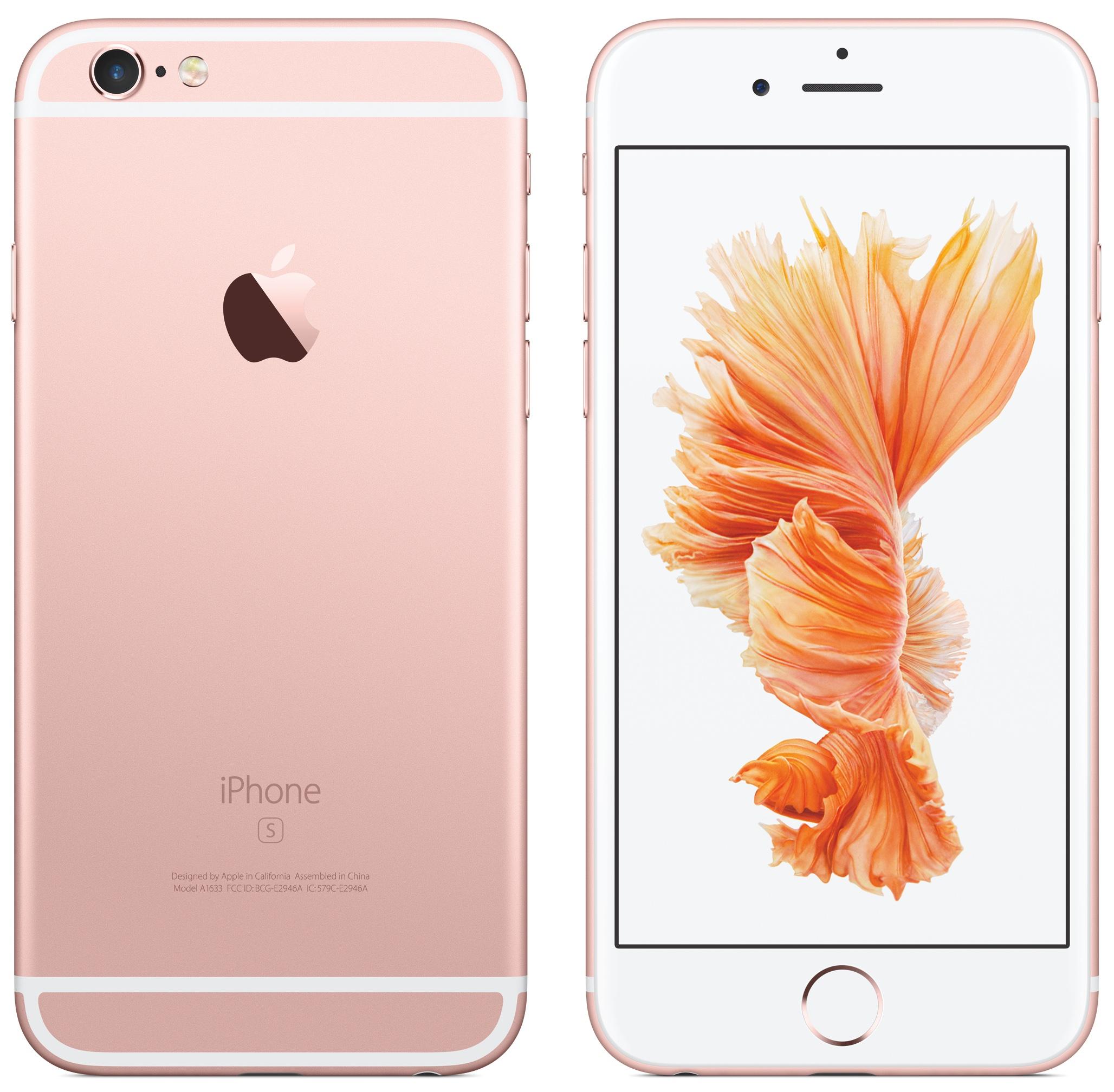 iPhone 6s Rose Gold imagen frontal delantera 006