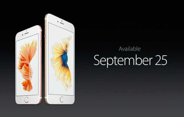 iPhone 6s september 25