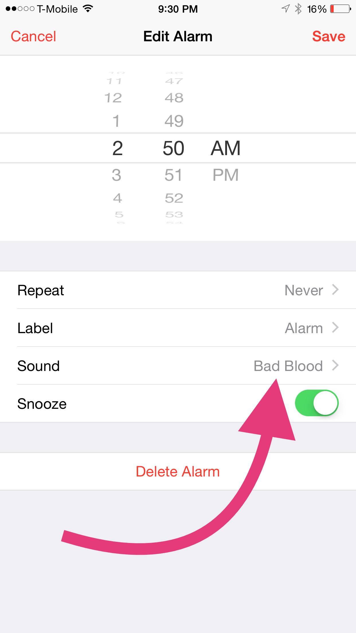 iPhone pre-order alarm