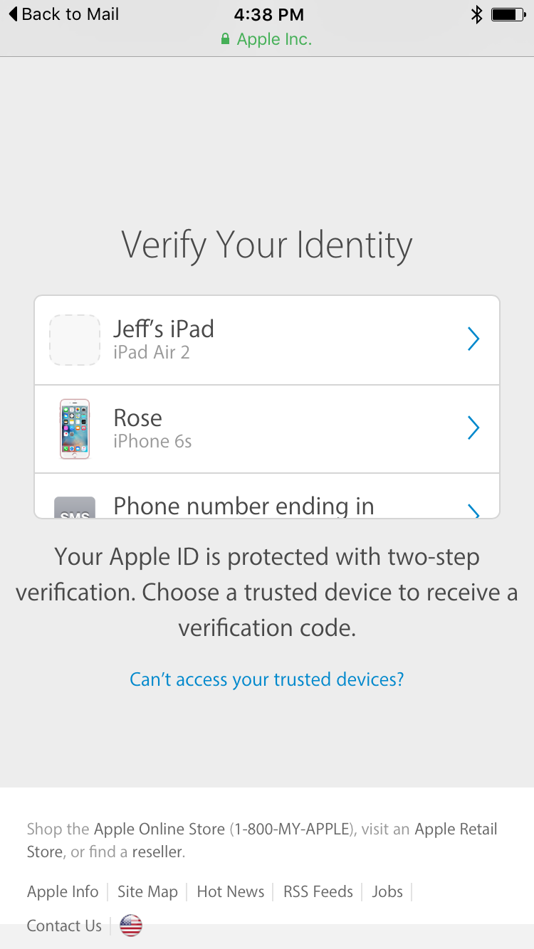 2-Step Auth Apple ID