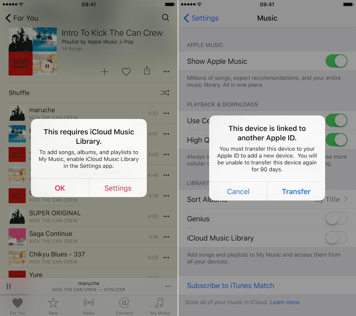 90 day Apple ID limit iCloud Music Library