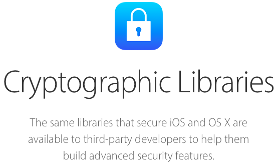 Apple Cryptographic Libraries website screenshot 001