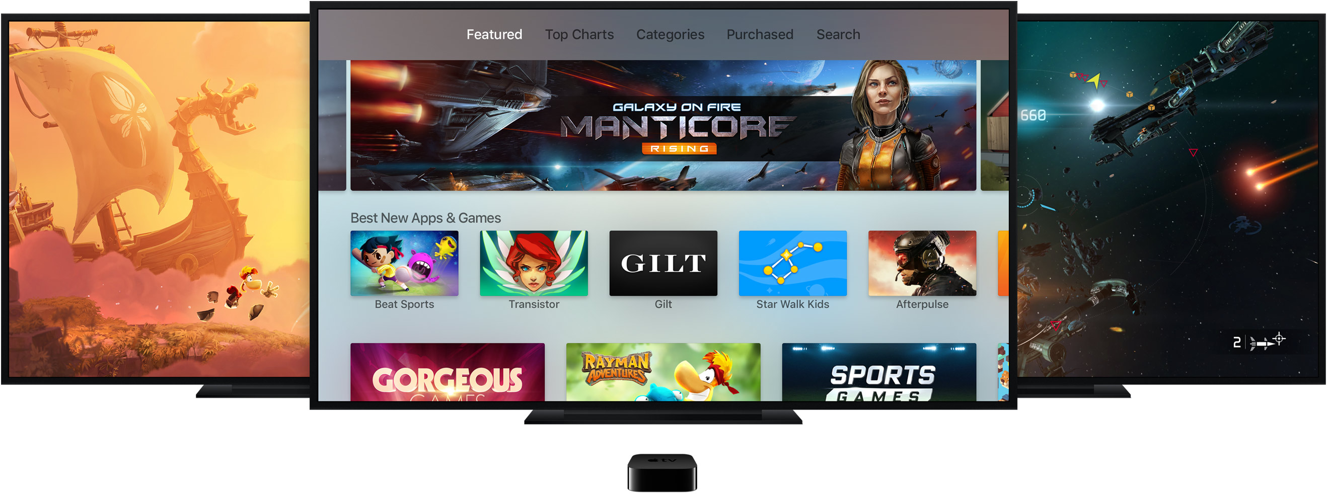 Apple TV apps games