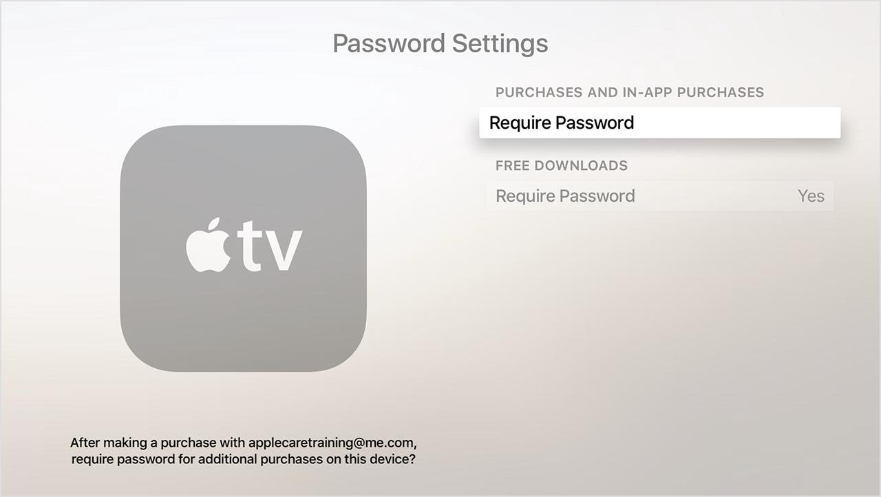 Captura de pantalla de configuración de contraseña de cuarta generación de Apple TV 001
