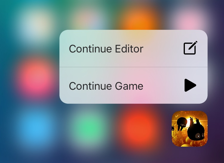Badland for iOS 3D Touch iPhone screenshot 001