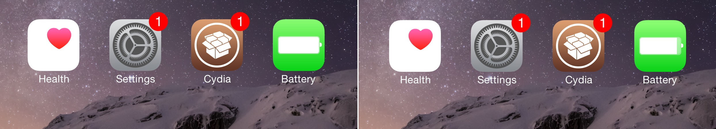Before and After BatteryIcon