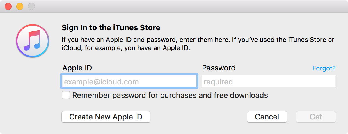 Create a New Apple ID