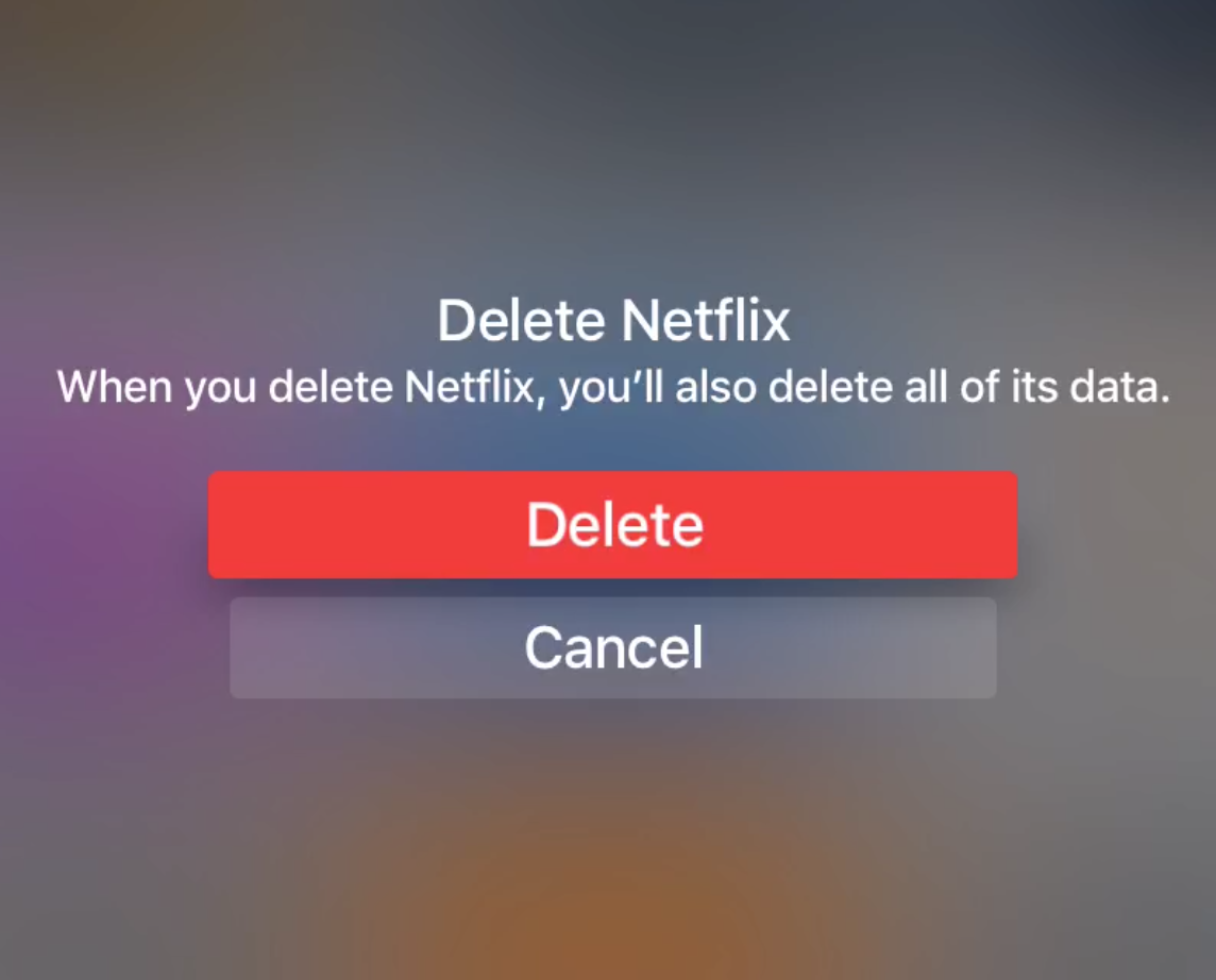 Delete Apps on Apple TV