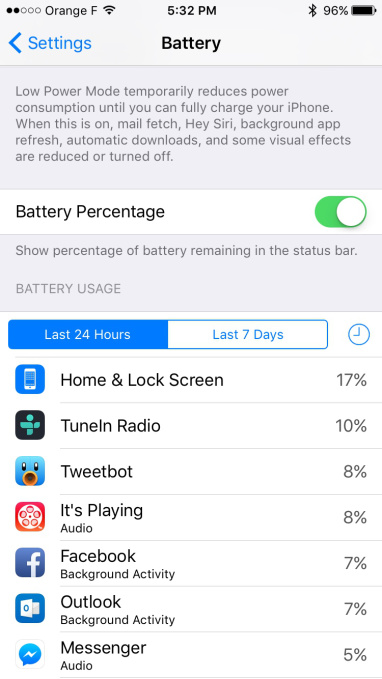 Facebook battery drains iPhone screenshot 001