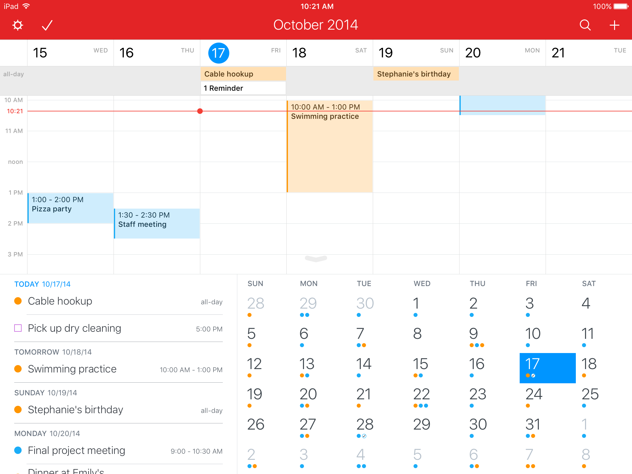 Fantastical 2.5 for iOS Light theme iPad screenshot 004