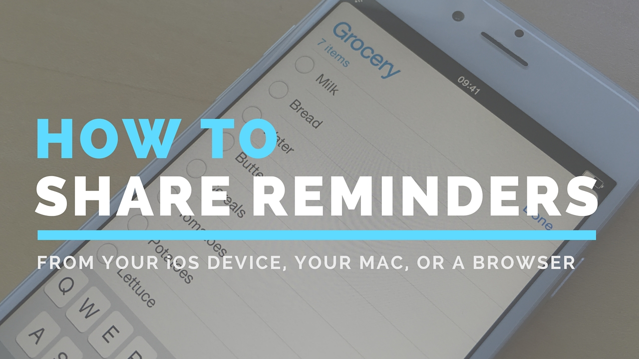 How to Share reminders lists