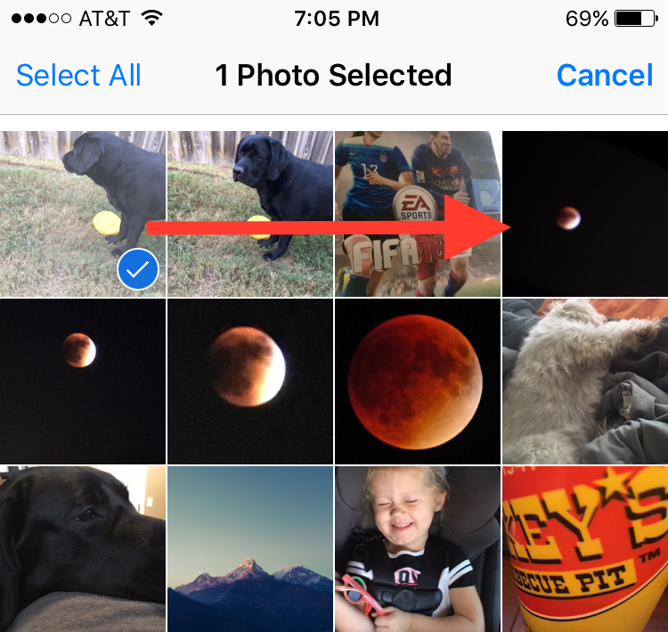 select multiple photos