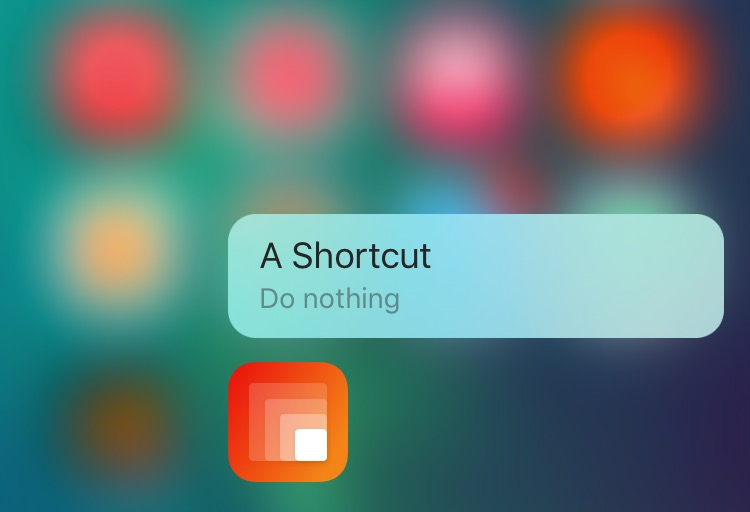 Lean for iOS 1.0 3D Touch shortcut