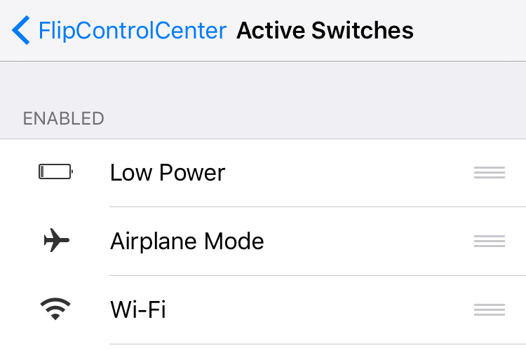 Low Power Flipswitch FlipControlCenter