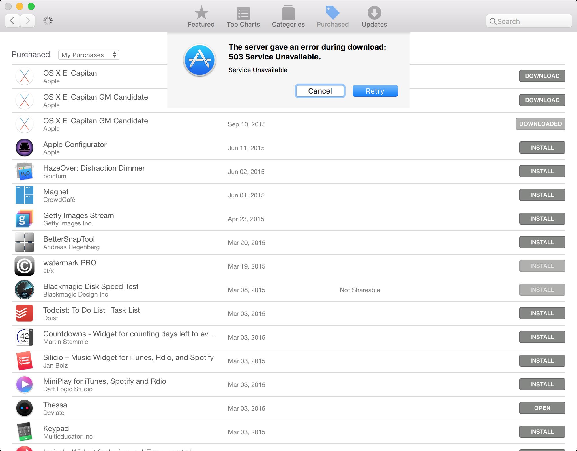 Mac App Store Issue