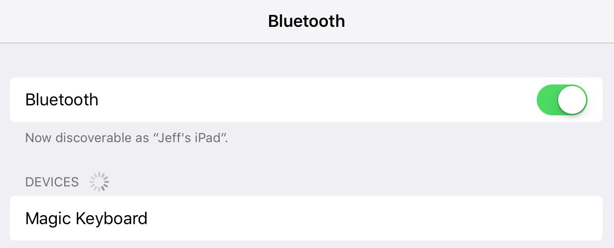 Magic Keyboard Bluetooth iPad