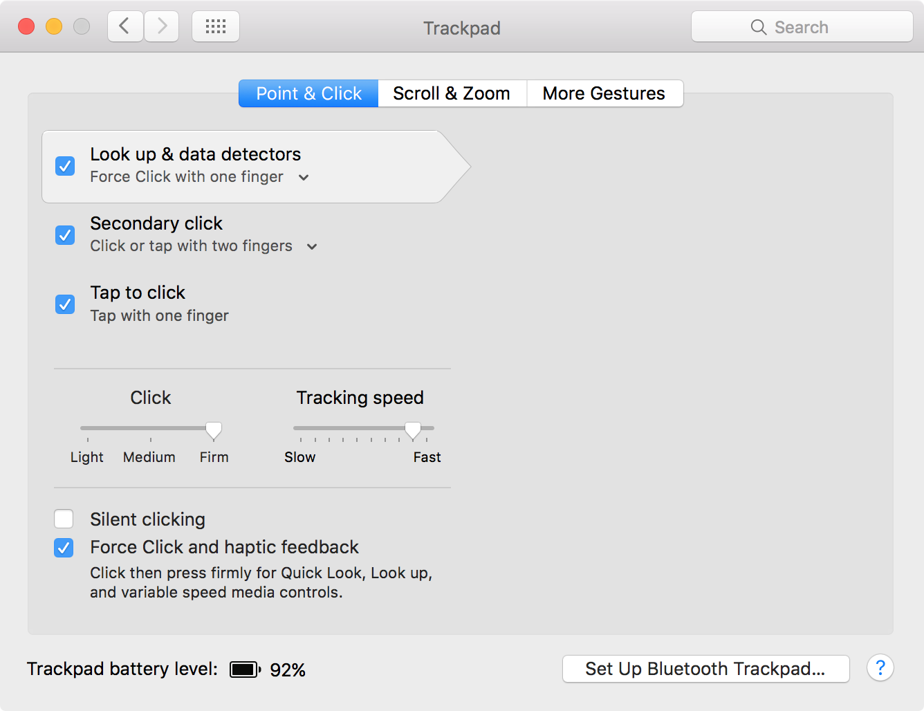 Magic Trackpad 2 Preferences