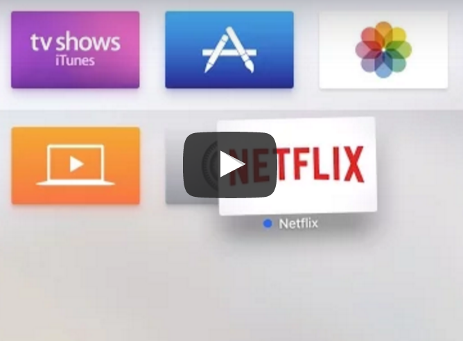 How to rearrange apps on the Apple TV