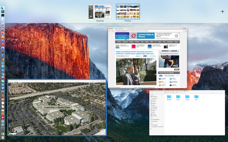 OS X El Capitan Mission Control Split View Mac screenshot 008