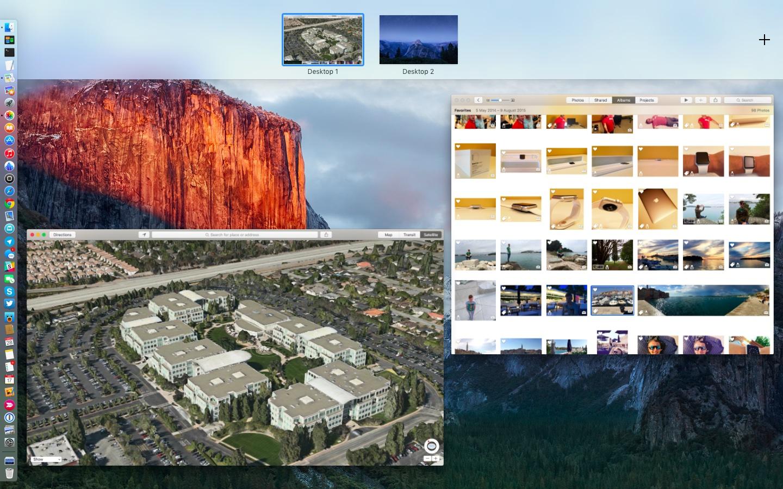OS X El Capitan Mission Control Split View Mac screenshot 010