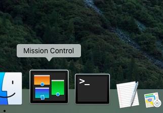 OS X El Capitan Mission Control in Dock Mac screenshot 001
