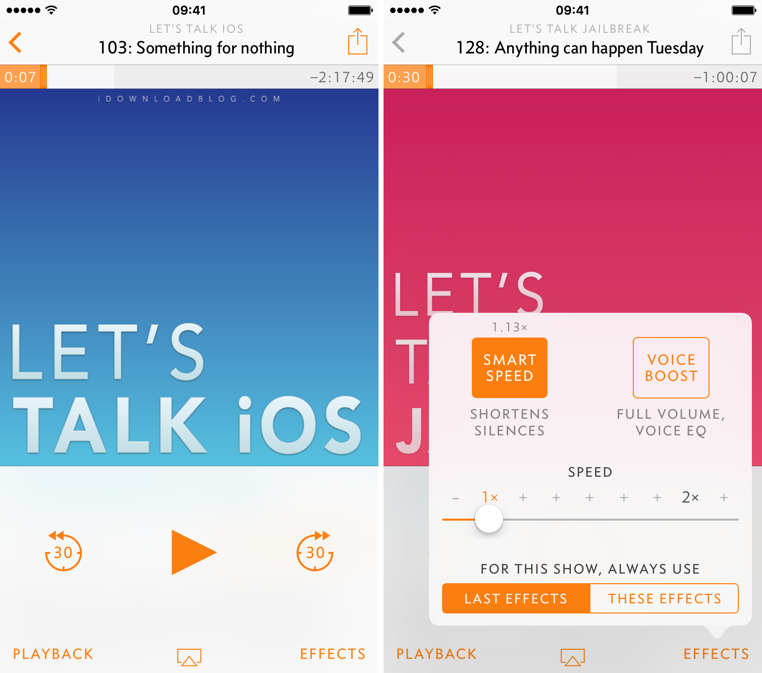 Overcast iDownloadBlog podcasts