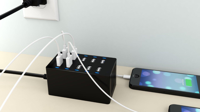 Sabrent 10 port charger