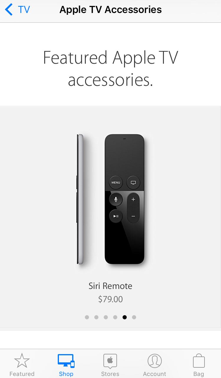 Siri Remote Sale