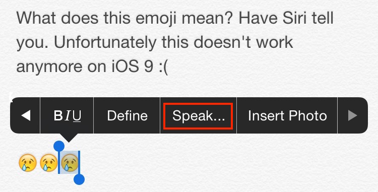 Siri tells what emoji means