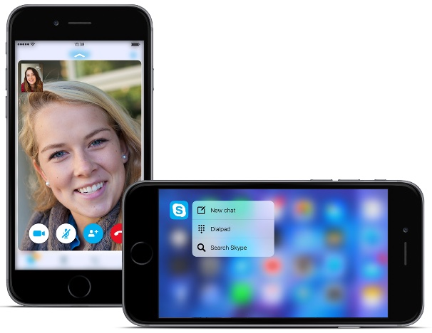 Skype 6.5 for iOS 3D Touch 001