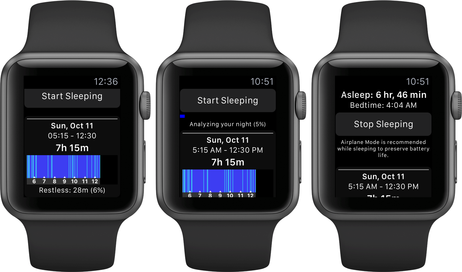 Sleep Plus for iOS Apple Watch screenshot 001