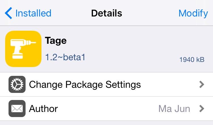 Tage beta iOS 9