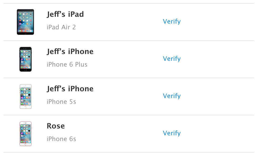Trusted Device Find My iPhone Enabled