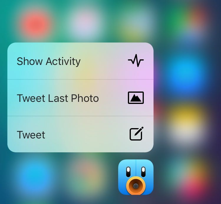 Tweetbot 4.0.1 para iOS 3D Touch iPhone captura de pantalla 001