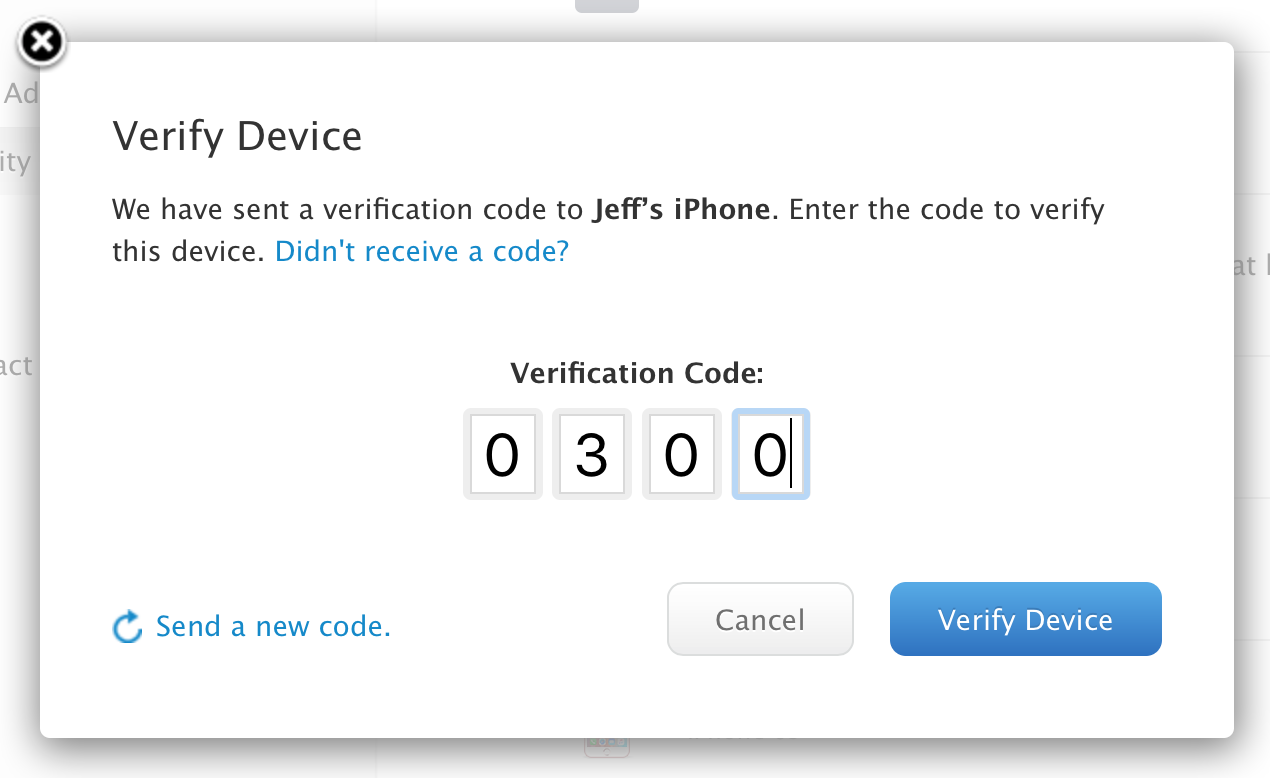 Verify Device 2FA Apple ID