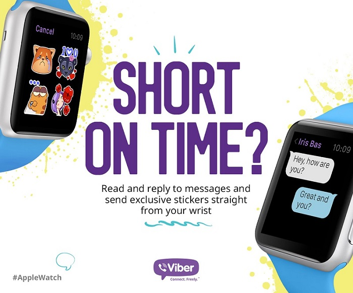Viber for Apple Watch teaser 001