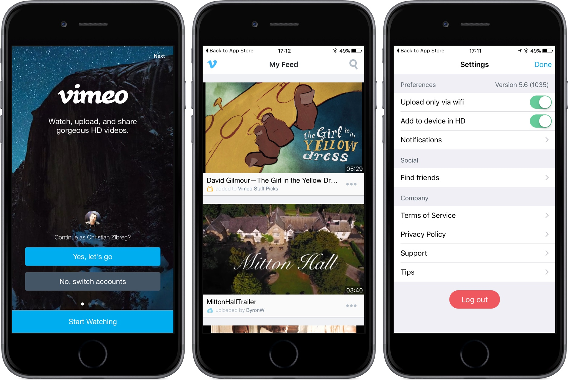 download vimeo video to iphone vimeo updated with ios 9 spotlight support 16886
