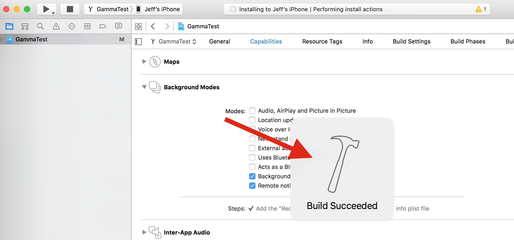 Xcode 7 Build Succeded